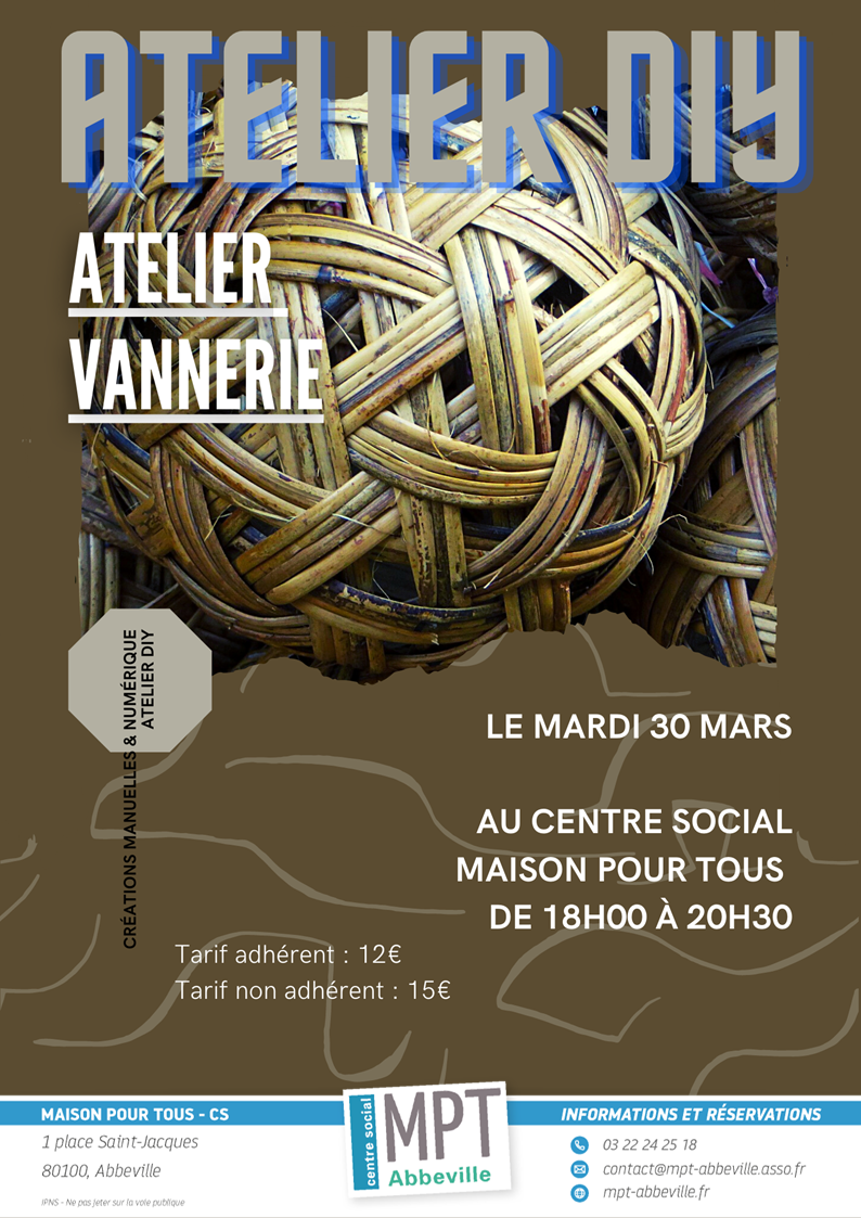 Ateliers Do It Yourself : Vannerie