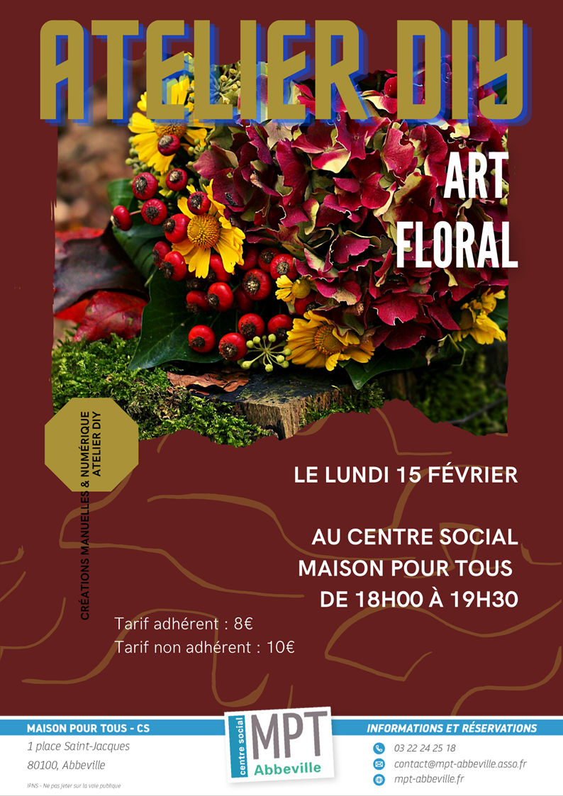 Ateliers Do It Yourself : Art floral