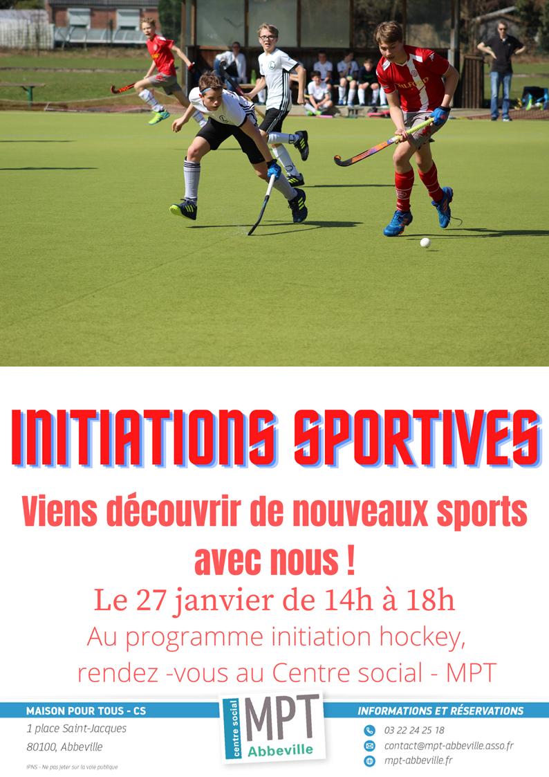 Initiations sportives éphémères : Hockey