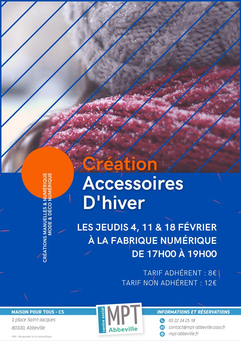 Mode & Déco : Création d'accessoires d'hiver